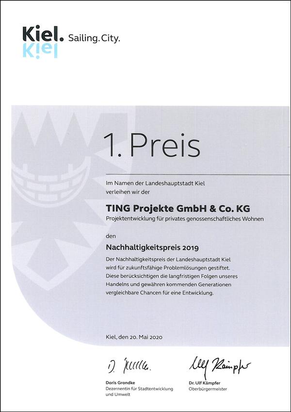 TING Projekte Urkunde Nachhaltigkeitspreis_600