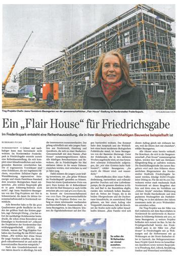 Hamburger Abendblatt TING Projekte Ein flairHouse für Friedrichsgabe